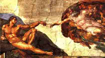 Da Vinci's Creation of Adam