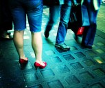 Red Shoes & Walking Bags, by moriza, with Creative Commons licence