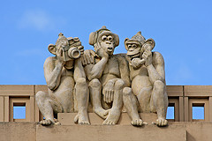 Three Wise Monkeys, by Leo Reynolds, with Creative Commons licence