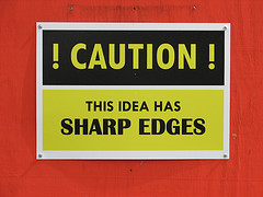 Caution - this idea has sharp edges! by rwp-roger, with Creative Commons licence