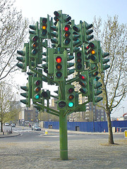 The Traffic Light Tree, by diamond geezer, with Creative Commons licence