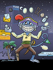 Mnemonic MonKey Pirate, by Ape Lad, with Creative Commons licence