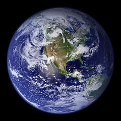 Blue Marble (Planet Earth), by woodleywonderworks, with Creative Commons licence