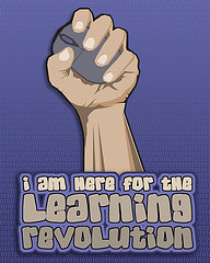 I am Here for the Learning Revolution, by Wesley Fryer, with Creative Commons licence