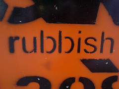Rubbish, by russelldavies, with Creative Commons licence
