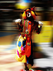 Clown, by Iujaz, with Creative Commons licence (Attribution-Noncommercial 2.0 Generic)