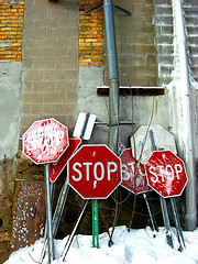 Discarded Traffic Signs, by The Joy Of The Mundane with Creative Commons licence (Attribution-Noncommercial 2.0 Generic)